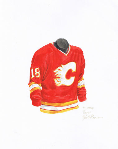 Calgary Flames 1980-81 - Heritage Sports Art - original watercolor artwork - 1