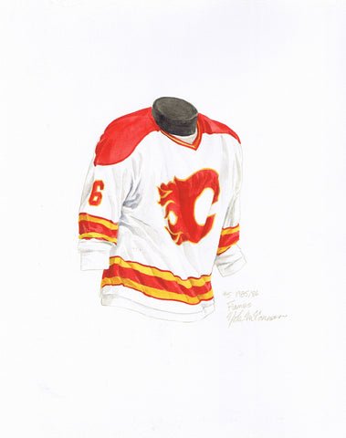 Calgary Flames 1985-86 - Heritage Sports Art - original watercolor artwork - 1