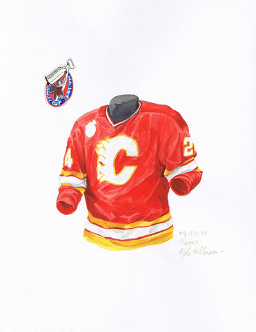 Calgary Flames 1992-93 - Heritage Sports Art - original watercolor artwork - 1