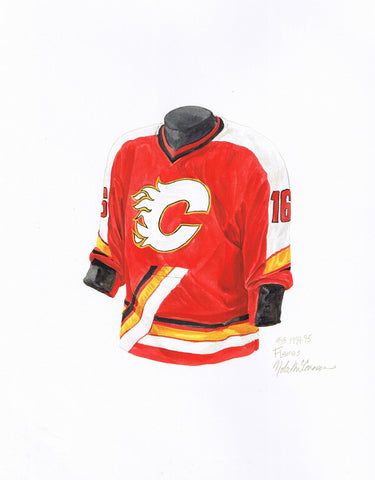 Calgary Flames 1994-95 - Heritage Sports Art - original watercolor artwork - 1