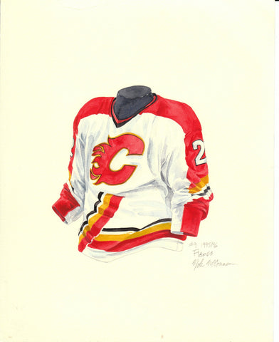 Calgary Flames 1995-96 - Heritage Sports Art - original watercolor artwork - 1