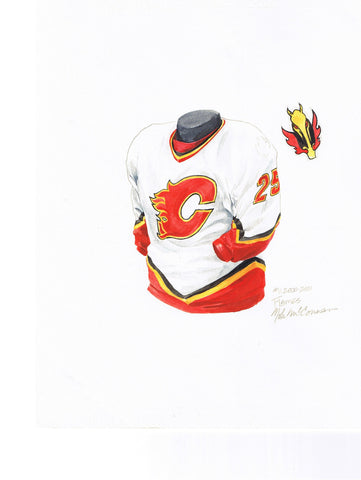 Calgary Flames 2000-01 - Heritage Sports Art - original watercolor artwork - 1