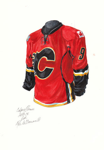 Calgary Flames 2007-08 - Heritage Sports Art - original watercolor artwork - 1