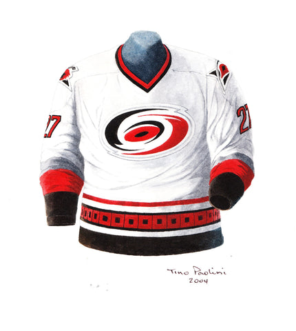Carolina Hurricanes 1998-99 - Heritage Sports Art - original watercolor artwork - 1
