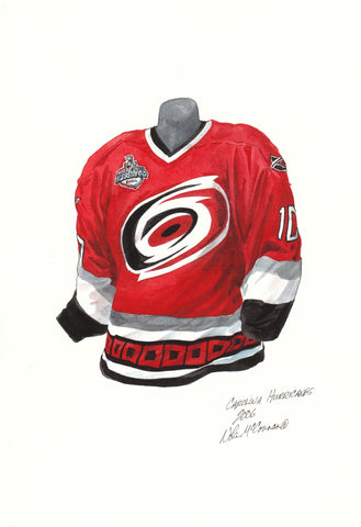 Carolina Hurricanes 2005-06 - Heritage Sports Art - original watercolor artwork - 1