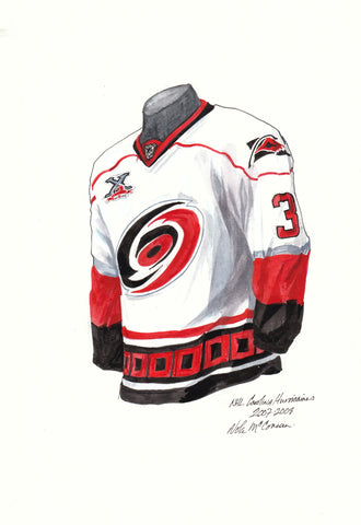 Carolina Hurricanes 2007-08 - Heritage Sports Art - original watercolor artwork - 1