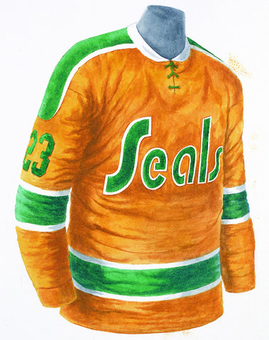 Defunct NHL Team 1969-70 - Heritage Sports Art - original watercolor artwork - 1