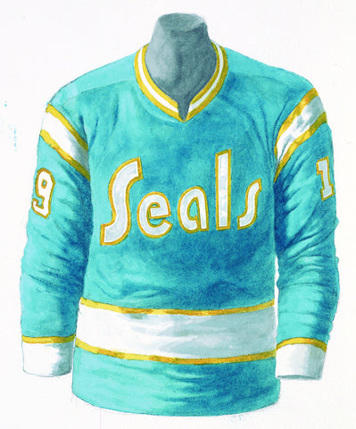 Defunct NHL Team 1974-75 - Heritage Sports Art - original watercolor artwork - 1