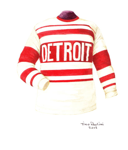 Detroit Red Wings 1927-28 - Heritage Sports Art - original watercolor artwork - 1