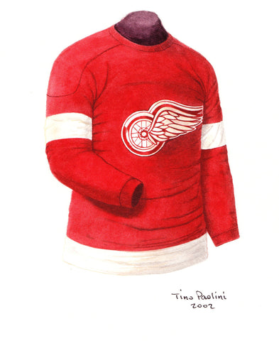 Detroit Red Wings 1935-36 - Heritage Sports Art - original watercolor artwork - 1