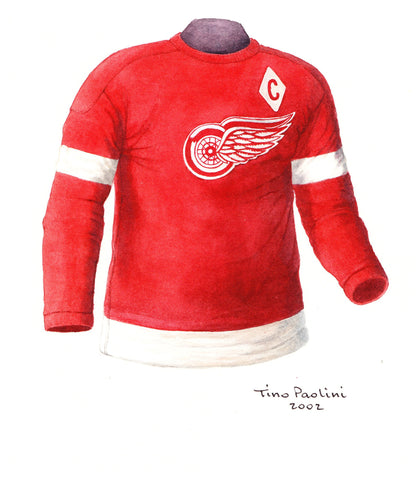 Detroit Red Wings 1949-50 - Heritage Sports Art - original watercolor artwork - 1