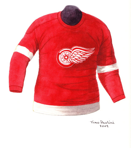 Detroit Red Wings 1953-54 - Heritage Sports Art - original watercolor artwork - 1