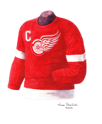 Detroit Red Wings 1954-55 - Heritage Sports Art - original watercolor artwork - 1