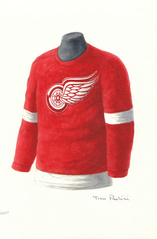 Detroit Red Wings 1955-56 - Heritage Sports Art - original watercolor artwork - 1