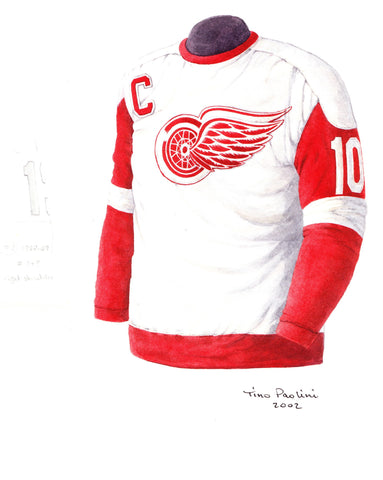 Detroit Red Wings 1968-69 - Heritage Sports Art - original watercolor artwork - 1