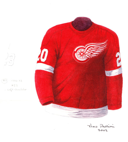 Detroit Red Wings 1972-73 - Heritage Sports Art - original watercolor artwork - 1