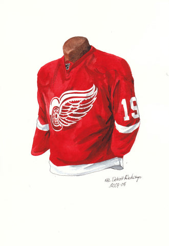 Detroit Red Wings 2007-08 - Heritage Sports Art - original watercolor artwork - 1
