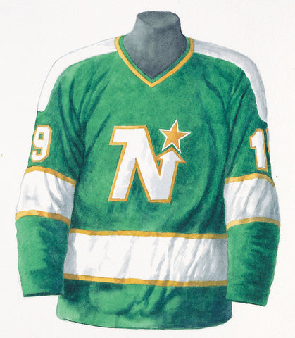 Dallas Stars 1968-69 Next Six - Heritage Sports Art - original watercolor artwork - 1
