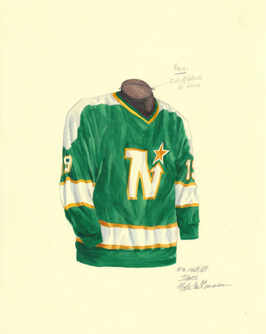 Dallas Stars 1968-69 - Heritage Sports Art - original watercolor artwork - 1