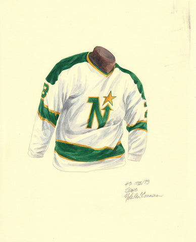 Dallas Stars 1972-73 - Heritage Sports Art - original watercolor artwork - 1