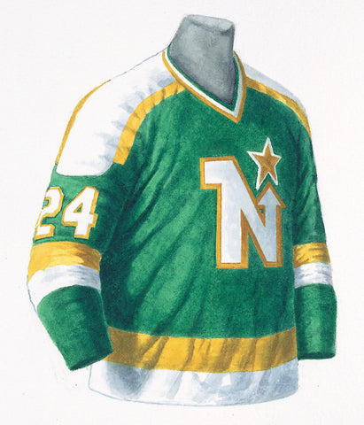 Dallas Stars 1980-81 Next Six - Heritage Sports Art - original watercolor artwork - 1