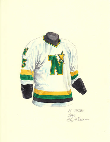 Dallas Stars 1985-86 - Heritage Sports Art - original watercolor artwork - 1