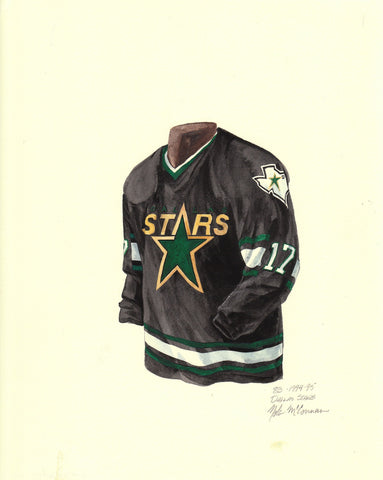 Dallas Stars 1994-95 - Heritage Sports Art - original watercolor artwork - 1