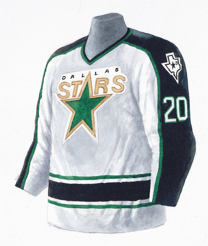 Dallas Stars 1996-97 Next Six - Heritage Sports Art - original watercolor artwork - 1