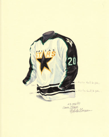 Dallas Stars 1996-97 - Heritage Sports Art - original watercolor artwork - 1