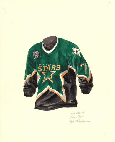 Dallas Stars 1998-99 - Heritage Sports Art - original watercolor artwork - 1