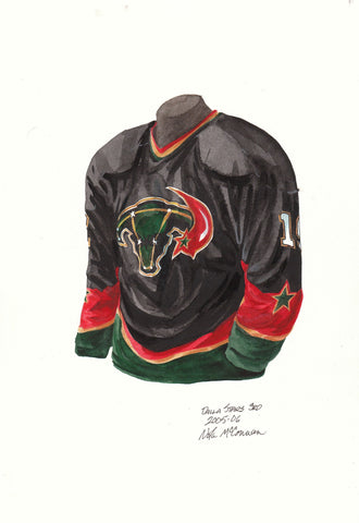 Dallas Stars 2005-06 - Heritage Sports Art - original watercolor artwork - 1