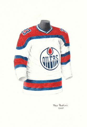 Edmonton Oilers 1973-74 - Heritage Sports Art - original watercolor artwork - 1
