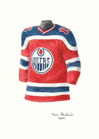 Edmonton Oilers 1974-75 - Heritage Sports Art - original watercolor artwork - 1