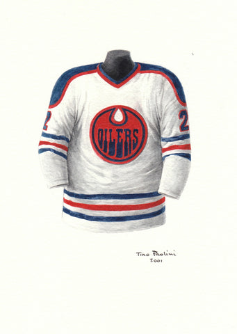 Edmonton Oilers 1977-78 - Heritage Sports Art - original watercolor artwork - 1