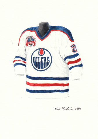 Edmonton Oilers 1989-90 - Heritage Sports Art - original watercolor artwork - 1