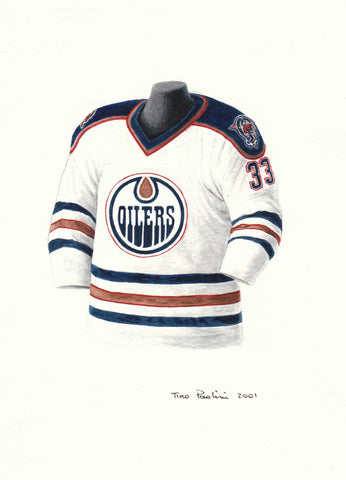Edmonton Oilers 1996-97 - Heritage Sports Art - original watercolor artwork - 1