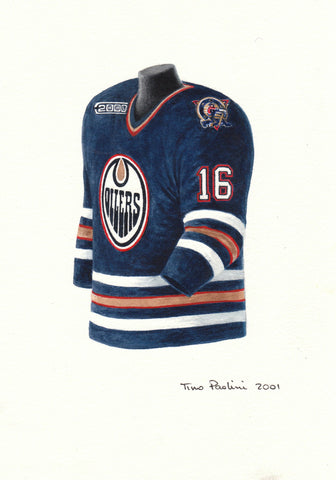 Edmonton Oilers 1999-2000 - Heritage Sports Art - original watercolor artwork - 1