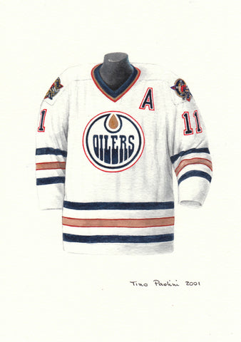 Edmonton Oilers 2000-01 - Heritage Sports Art - original watercolor artwork - 1