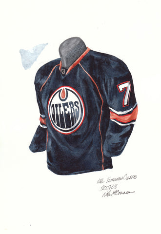 Edmonton Oilers 2007-08 - Heritage Sports Art - original watercolor artwork - 1