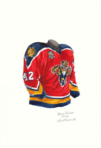 Florida Panthers 1995-96 - Heritage Sports Art - original watercolor artwork - 1