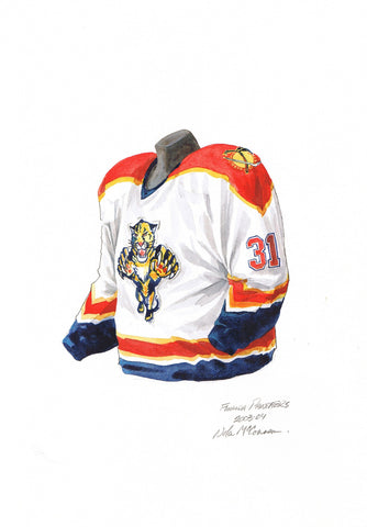 Florida Panthers 2003-04 - Heritage Sports Art - original watercolor artwork - 1
