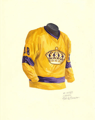 Los Angeles Kings 1967-68 - Heritage Sports Art - original watercolor artwork - 1