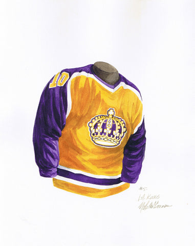 Los Angeles Kings 1982-83 - Heritage Sports Art - original watercolor artwork - 1