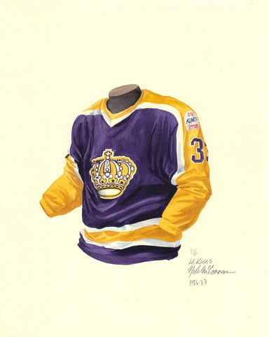Los Angeles Kings 1986-87 - Heritage Sports Art - original watercolor artwork - 1