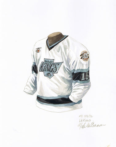 Los Angeles Kings 1991-92 - Heritage Sports Art - original watercolor artwork - 1