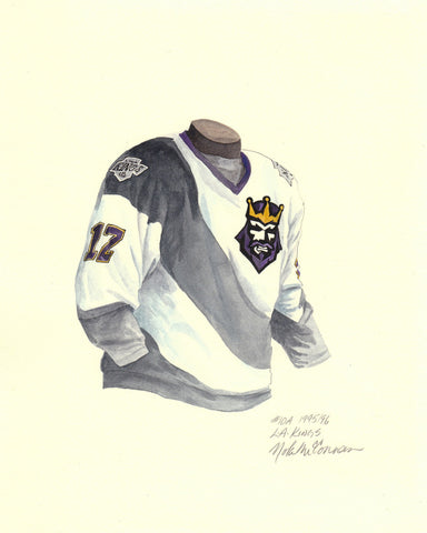 Los Angeles Kings 1995-96 - Heritage Sports Art - original watercolor artwork - 1