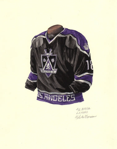 Los Angeles Kings 2001-02 - Heritage Sports Art - original watercolor artwork - 1