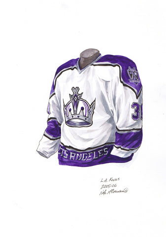 Los Angeles Kings 2005-06 - Heritage Sports Art - original watercolor artwork - 1