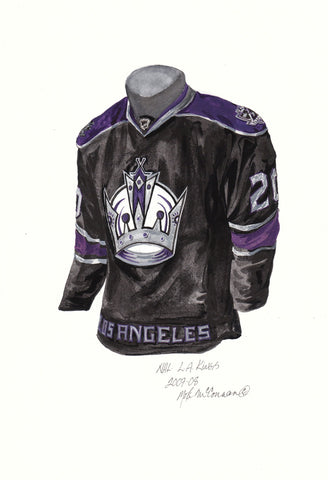 Los Angeles Kings 2007-08 - Heritage Sports Art - original watercolor artwork - 1