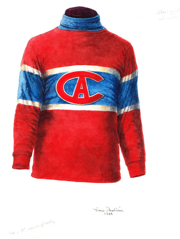 Montreal Canadiens 1915-16 - Heritage Sports Art - original watercolor artwork - 1